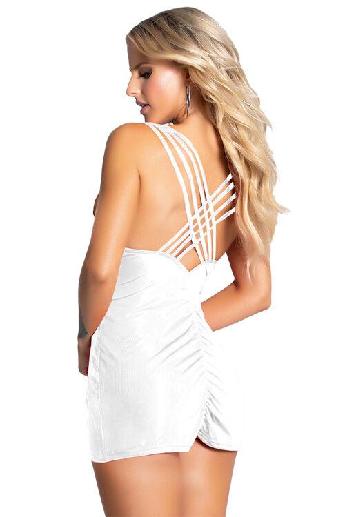 Kadın Biye Detaylı Süper Mini Elbise