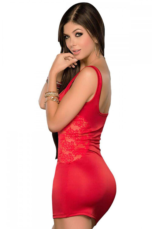 Kadın Dantel Detaylı Süper Mini Elbise
