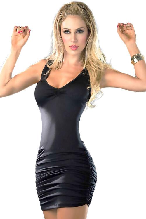 1003-Kadın Sırt Detaylı Süper Mini Elbise